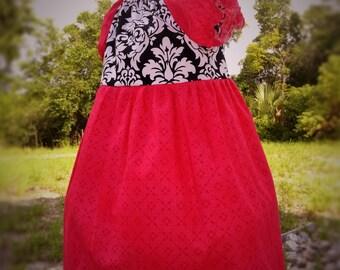 Girls Peasant Dress Summer Toddler Girls Dress Size 2 Ready to Ship