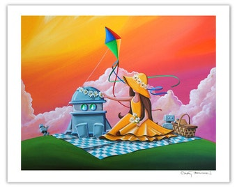 Robot Series Limited Edition - Beautiful Day For A Picnic - Signed 8x10 Semi Gloss Print (2/10)