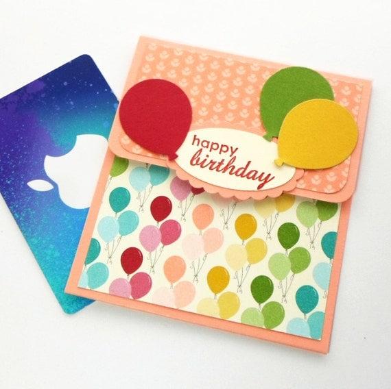 Birthday Gift Card Holder Happy Birthday Card Birthday