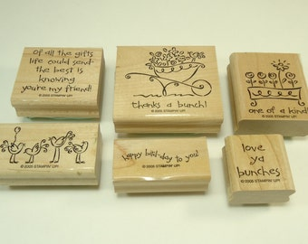 Love Ya Bunches Wood Mounted Rubber Stamp Set From Stampin Up  Sell A Bration 105462 Birthday, Flowers, Flower, Floral, Birds, Wheelbarrow