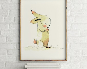 Bumbum so sorry - Animal Art - Holli - Nursery Wall Art - Nursery Decor - Childrens Art - Kids Wall Art - Nursery Art