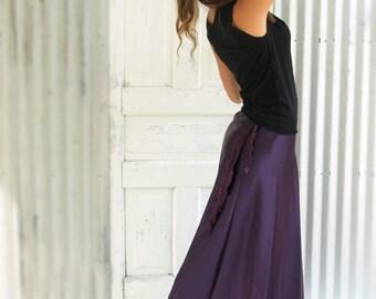 Hemp & Silk Reversible Full Length Wrap Skirt