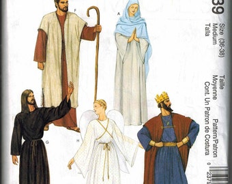 McCalls 2339 Size Medium 36-38 Nativity Robe Sewing Pattern Costume Angel Cape