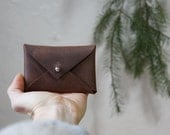 Leather Envelope Card Wallet