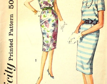 Blouson Dress with Belt Bust 34 Size 14 Simplicity 2914 Vintage Sewing Pattern