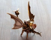Steampunk One-eyed Dragon Minion Robot