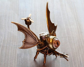 Steampunk One-eyed Dragon Minion Robot - Made to order