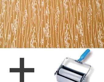 2-Colours Pattern Paint Roller STARTER PACK - Wood Grain