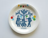 SECONDS SALE Folklore and fun breakfast plate 'Staphorst'