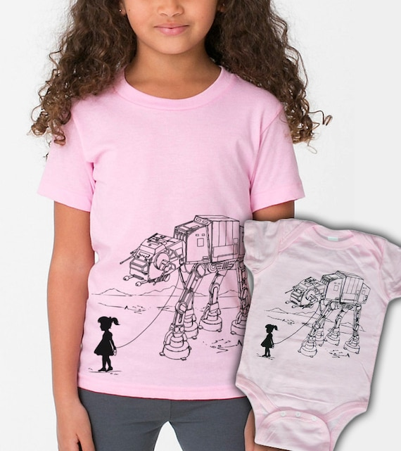 My Star Wars AT-AT Pet big sister little sister matching sets, funny sibling set, geeky shirts, gift for sisters, toddler gift, baby gift