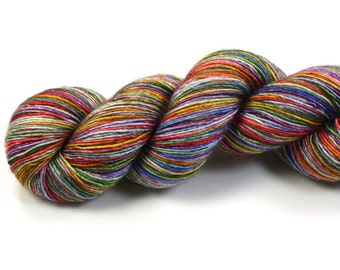 Daydream--hand dyed sock weight yarn, merino and silk single ply, (438yds/100gm)