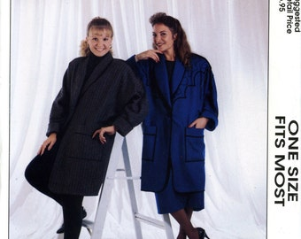 The Cutting Edge Jacket Coat in a Day Serger Pattern One Size Fits Most Uncut Sewing Pattern