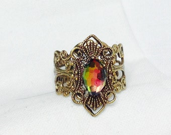 oSO MARGARET  Oso volcano marquise brass ring