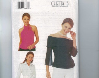 Misses Sewing Pattern Butterick 3153 Misses Easy Blouse Halter or Boat Neck Size 6 8 10 or or 12 14 16 or 18 20 22 UNCUT
