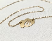 Gold Cloud Necklace FREE SHIPPING   Rainbow Cloud Necklace   Gold Rainbow Necklace by Sarah Cecelia