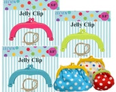 "Lecien Jelly clips medium 5.5"" , Pink, Blue and Green."