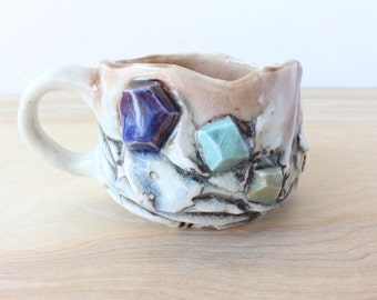 Unique gift for her, Unusual Coffee Mugs, Crystal Art, Crystal Mug, Gift for her, Zodiac Mug, Art Deco