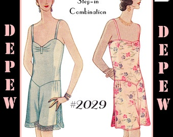 Vintage Sewing Pattern Reproduction Multi-Size 1920's Step-in Combination Teddy #2029 - INSTANT DOWNLOAD