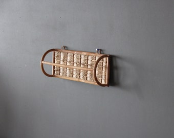 Bamboo Rattan Wall Towel Rack