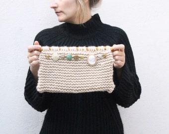 Clutch Bag, bridal clutch, clutch purse, accessory, chunky knit bag, knitted bag, knitted purse, bridesmaid clutch, personalized clutch