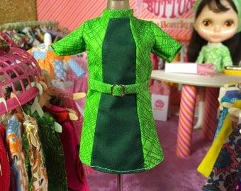 Super Mod Green Blythe Doll Dress