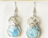 Larimar - Larimar Earrings - Larimar Jewellery - Sterling Silver