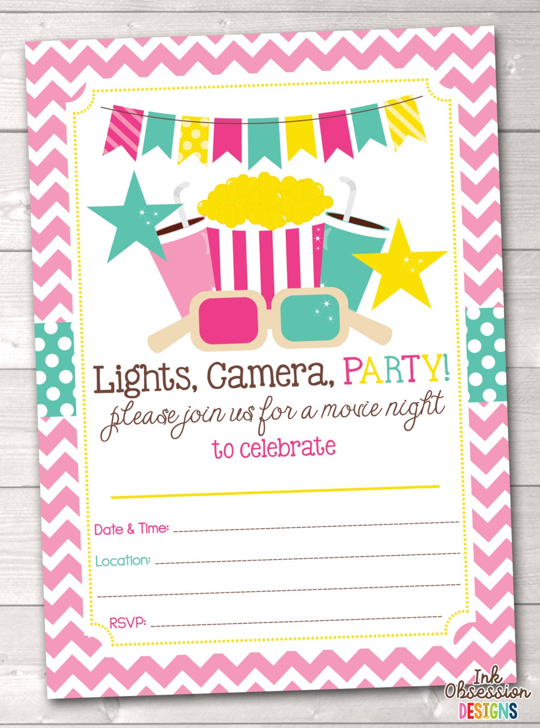 It is an image of Obsessed Printable Party Invites