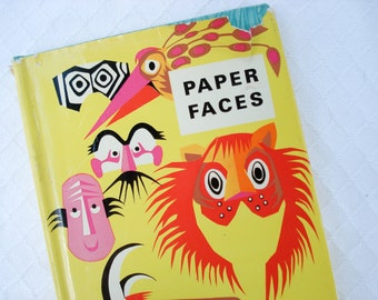 Vintage paper crafting book - Paper Faces by Michael Grater - 1967