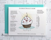 Project Valentine Cupcake - Valentine Architecture Construction Card
