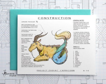Project Zodiac - Capricorn - Blank Architecture Construction Cards