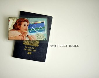 Luggage Tag Handmade from Vintage Maps. Venezuela, Unique Recycled Gift, His or Hers, Travel Accessory, South America, Caracas