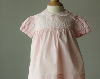 1950s Spring Leaf Dress~Size 3 Months