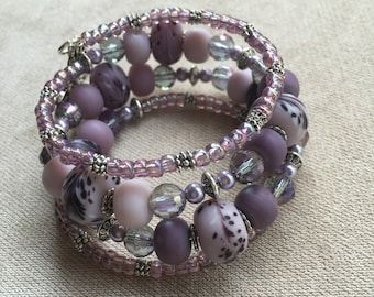 Lavender Bracelet & Earrings
