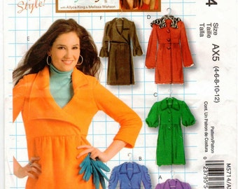 UNCUT McCall's Make it Your Style Pattern M5714 - Misses Unlined Jackets and Coats - 4-12 - Allyce King & Melissa Watson - DIY Style