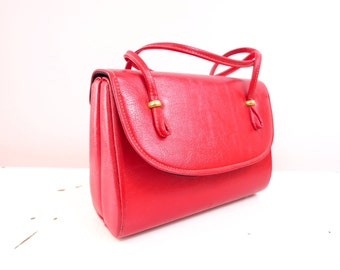 1960s Red Bag Handbag Purse