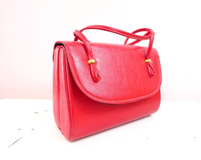 1960s Red Bag Handbag Purse