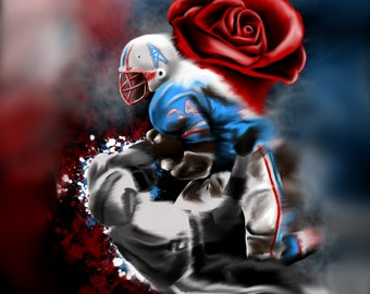 """Earl Campbell """"Tyler Rose"""" Art Print by Androo"""