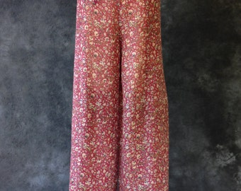 Vintage 70's 80's silk gauze wrap harem pants. Festival pants. Thai wrap pants. ONE SIZE Made in India