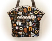 TOOTLES Boutique Bag - Anchors Aweight Nautical Boat Designer Fabric - - - (FREE Shipping USA Canada)