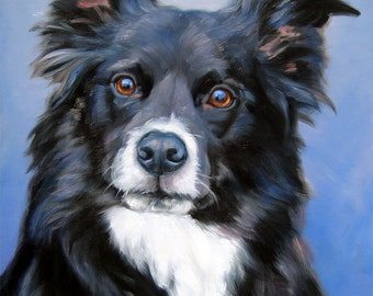 Custom Pet Portrait Paintings, oil painting, painting from your photos, 16x20""