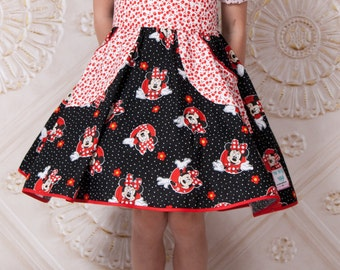 Minnie Mouse Dress - Toddler Girl Clothes - Little Girl Outfit - Minnie Mouse Birthday - Boutique Girl Outfit - sizes 2T to 10 years