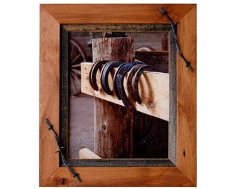 western frames alder wood barnwood frame with barbed wire sagebrush series - My Barnwood Frames