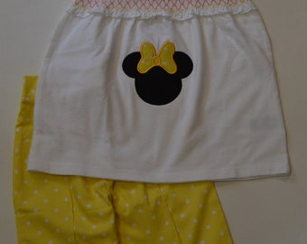 Disney Minnie Summer Capri Outfit