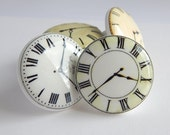 Clock Knobs, Clock Drawer Knobs, Clock Pulls, Photo Clock Knobs, Clock Face  - 1 1/2 Inches - price is for 1 knob - choose your quantity