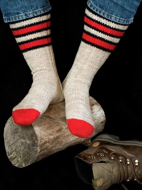 Knit Pattern For Moon Socks : Hunters Moon Sock Knitting Pattern - PDF from FiberWild on Etsy Studio