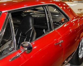 1967 Chevrolet Chevelle SS Car Photography, Automotive, Auto Dealer, Muscle, Sports Car, Mechanic, Boys Room, Garage, Dealership Art