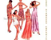 McCalls 6972 Womens Vintage 70's Lingerie Pattern Camisole Full Slip Half Slip Bra Panties Bikini size 14 Bust 36 Sewing Pattern Uncut