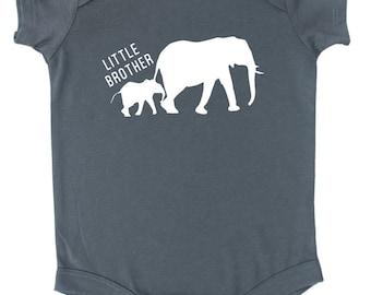 Little Brother Elephant Baby Bodysuit