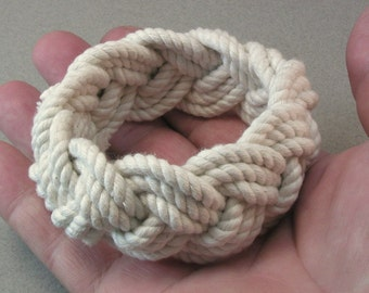 oversize heavy cord rope bracelet three part braid bracelet turks head knot bracelet 3950