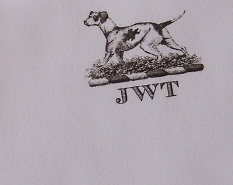 Personalized Pointer Hunting Dog Monogrammed Notepad Initials Note pad Hound Dog Field Dog Retriever 75 Sheet Shooting Dad Men